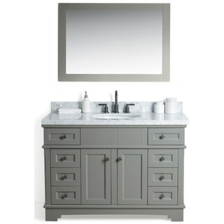 Legion Furniture Grey 48-inch Sink Vanity with 36-inch Mirror and Faucet