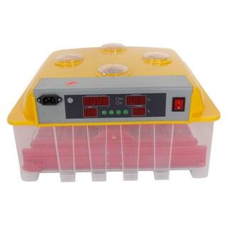 36-Egg Practical Peep Hole Fully Automatic Poultry Incubator Set US Plug Yellow & Transparent