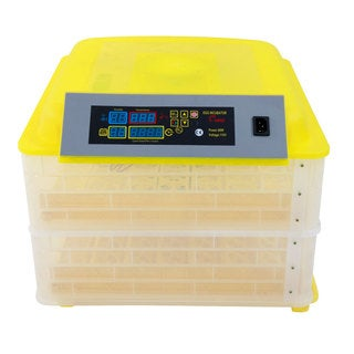96-Egg Practical Fully Automatic Poultry Incubator (US Standard) Yellow & Transparent