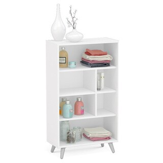 Boahaus White 51-inch 6-open-shelf Bookcase