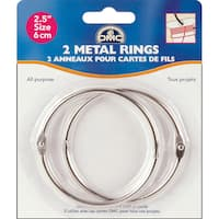 "Metal Rings 2.5""-2/Pkg"