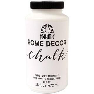 Folkart Home Decor Chalk Paint 16oz-White Adirondack