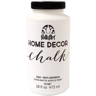 Folkart Home Decor Chalk Paint 16oz-White Adirondack