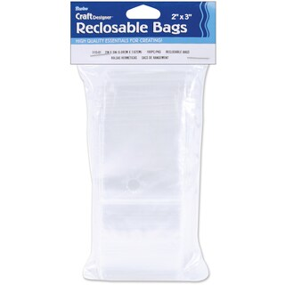 "Reclosable Bags 100/Pkg-2""X3"" Clear"