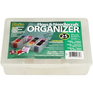"Deep Floss Caddy 7 Compartments W/25 Bobbins-7""X4.625""X1.625"""