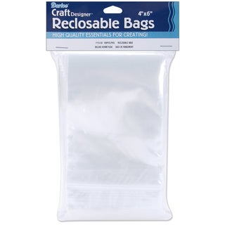 "Reclosable Bags 100/Pkg-4""X6"" Clear"