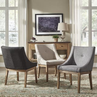 tufted dining room chairs. Voyager Button Tufted Slope Arm Linen Dining Chair  Set of 2 by iNSPIRE Q Room Kitchen Chairs For Less Overstock com