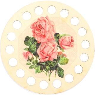 Buratini Thread Organizer 13cm-Pink Roses