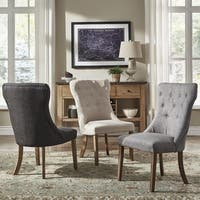 Voyager Button Tufted Dining Chair (Set of 2) by iNSPIRE Q Artisan