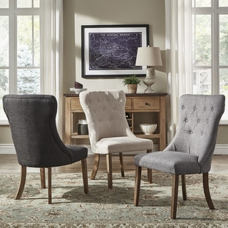 Link to Voyager Button Tufted Dining Chair (Set of 2) by iNSPIRE Q Artisan Similar Items in Dining Room & Bar Furniture