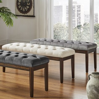 Benchwright II Velvet Tufted 52-inch Bench by iNSPIRE Q Bold
