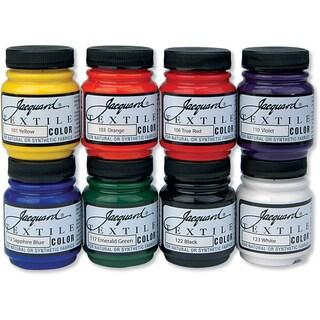 Jacquard Textile Color Fabric Paint 2.25oz 8/Pkg-Primary & Secondary Colors