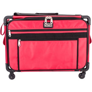 "TUTTO Machine On Wheels Case-23""X14.25""X14"" Red"