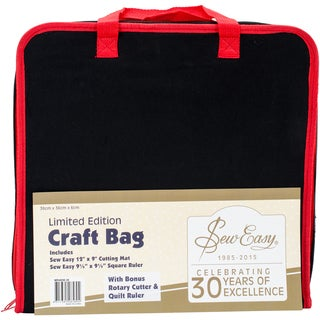 """SewEasy Project Carry Case 14.5""""X14.5""""-Black & Red"""
