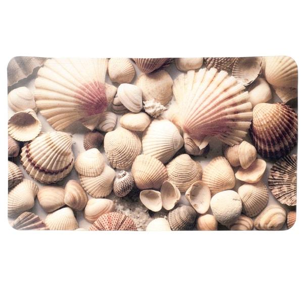 Seashell Printed Tub Mat (16 x 27)