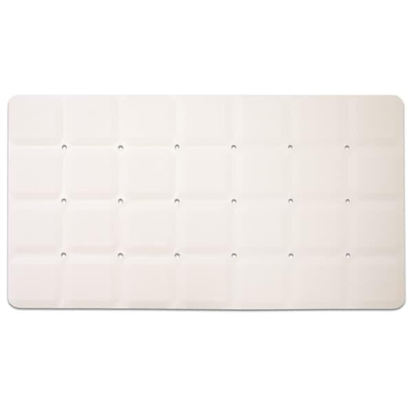"Anti-Slip Octo Tub Mat (15""x28"") Beige or White"