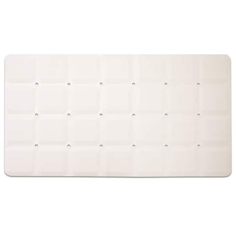 "Anti-Slip Octo Tub Mat (15""x28"") Beige or White"