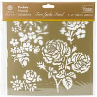 "Couture Creations Arabesque Stencil 8""X8""-Secret Garden Damask"