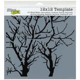 "Crafter's Workshop Template 12""X12""-Branches Reversed"