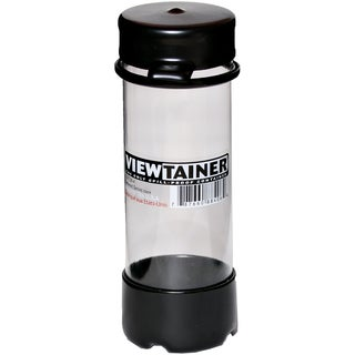 """Viewtainer Tethered Cap Storage Container 2""""X6""""-Black"""