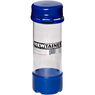 "Viewtainer Tethered Cap Storage Container 2""X6""-Blue"
