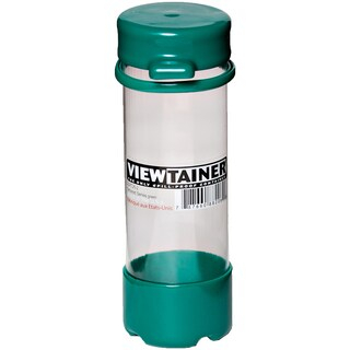 """Viewtainer Tethered Cap Storage Container 2""""X6""""-Green"""