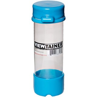 """Viewtainer Tethered Cap Storage Container 2""""X6""""-Sky Blue"""