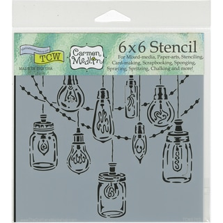"Crafter's Workshop Template 6""X6""-Party Lights"