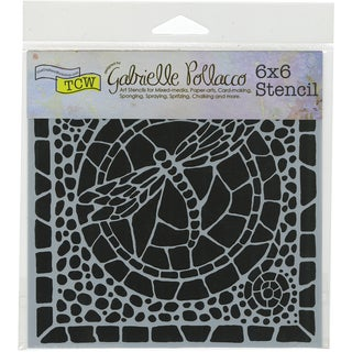 "Crafter's Workshop Template 6""X6""-Winged Mosaic"