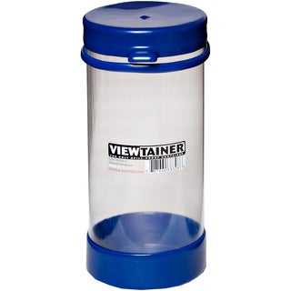 "Viewtainer Tethered Cap Storage Container 3.625""X8""-Blue"