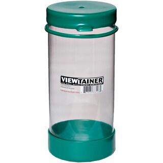 "Viewtainer Tethered Cap Storage Container 3.625""X8""-Green"