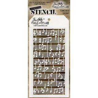"""Tim Holtz Layered Stencil 4.125""""X8.5""""-Concerto"""