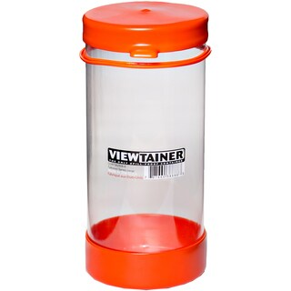 "Viewtainer Tethered Cap Storage Container 3.625""X8""-Orange"
