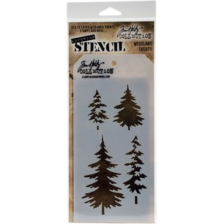 "Tim Holtz Layered Stencil 4.125""X8.5""-Woodland"
