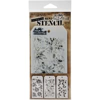 Tim Holtz Mini Layered Stencil Set 3/Pkg-Set #19