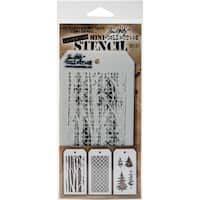Tim Holtz Mini Layered Stencil Set 3/Pkg-Set #21
