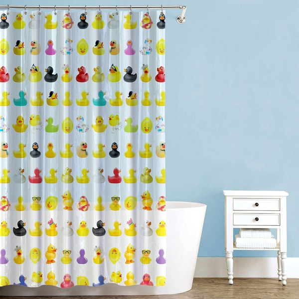 Duckies PEVA Multicolored 70 Inch X 72 Shower Curtain