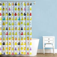 Duckies PEVA Multicolored 70-inch x 72-inch Shower Curtain