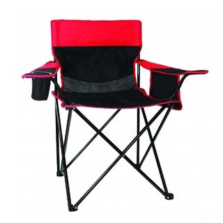 Texsport Oversized Arm Chair, Black/Red