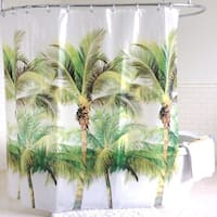 Green Palm Tree PEVA Shower Curtain (70 x 72)