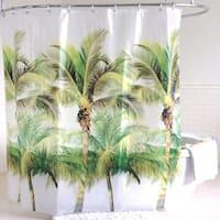 Palm Tree PEVA Shower Curtain (70-inchx72-inch) Green