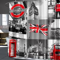 London PEVA Grey Shower Curtain (70 x 72)