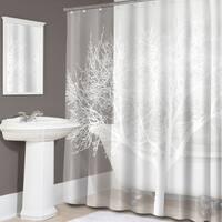 Pearl Tree Print PEVA Shower Curtain