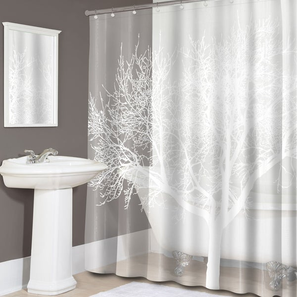 Shop Pearl Tree Print Peva Shower Curtain On Sale Free