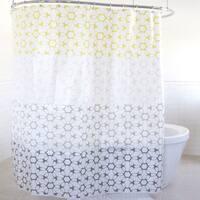 Linq PEVA Yellow Shower Curtain (70 x 72)