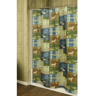Live Love Lake Shower Curtain by Bacova