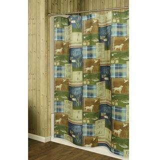 Live Love Lake Shower Curtain by Bacova