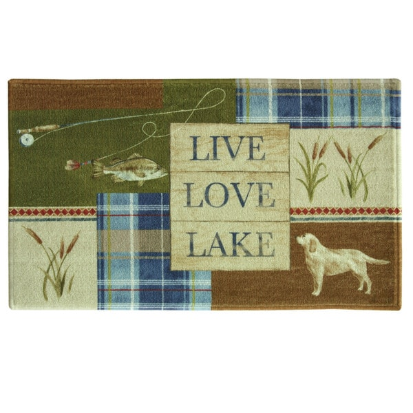 "Live Love Lake 20""x30"" Bath Rug by Bacova"