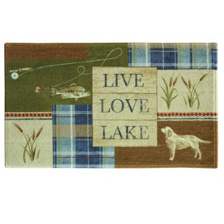 "Live Love Lake 20""x30"" Bath Rug by Bacova"
