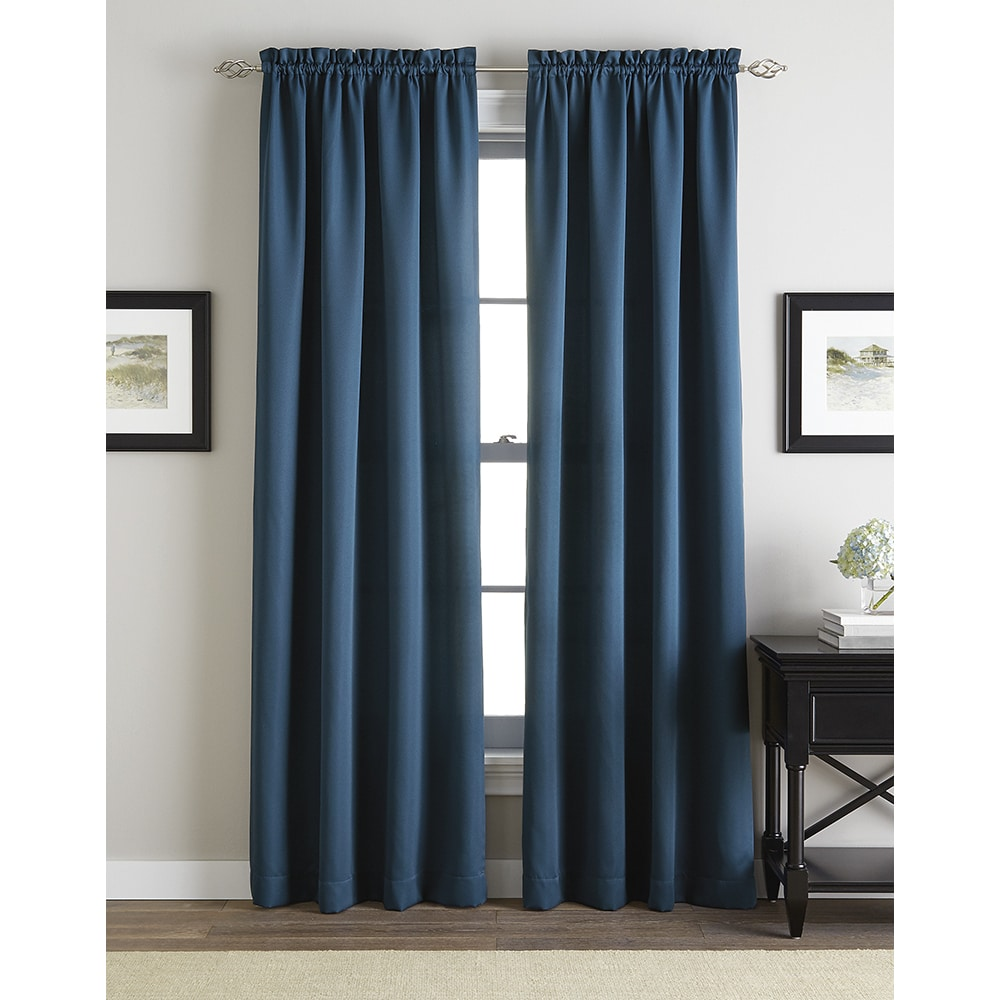 CHF Addison Solid Twill Rod Pocket Curtain Panel (84 Inch...
